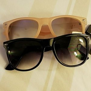 Bundle of TWO wayfarer style Sunglasses